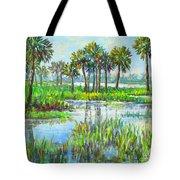 Myakka Lake With Palms Tote Bag