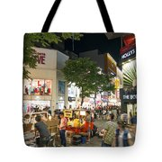 Myeongdong Shopping Street In Seoul South Korea Tote Bag