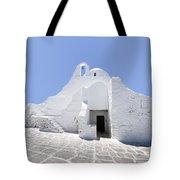 Mykonian Church Tote Bag