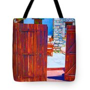 Mysterious Courtyard Tote Bag