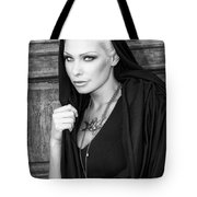 Mysterious Obsession Bw Palm Springs Tote Bag