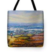 Mysterious Ocean Beach Rocks Tote Bag