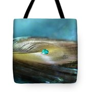 Mysterious Turquoise Tote Bag