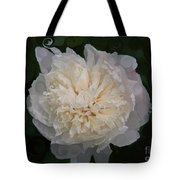 Mysterious White Peony Abstract Painting Tote Bag
