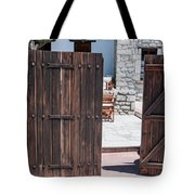 Mystery Courtyard Tote Bag
