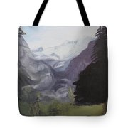 Mystery Mountains Tote Bag