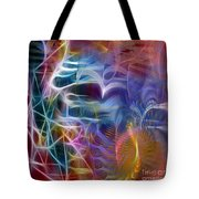 Mystery Of Light -square Version Tote Bag
