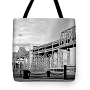 Mystic Black And White Tote Bag