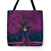 Mystic Spiral Tree 1 Pink By Jrr Tote Bag