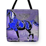 Mysterious Stallion Abstract Tote Bag