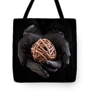 Mystical Hands Holding A Woven Ball Tote Bag