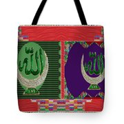 Mystical Symbol Art Holistic Spiritual Words Tote Bag