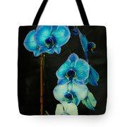 Mystique Blue Orchids Tote Bag