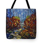 Mysty Morning Path Tote Bag