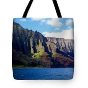 Na Pali Coast On Kauai Tote Bag