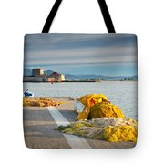 Nafplio Fishing Harbour Tote Bag