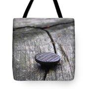 Nail And Old Wood Tote Bag