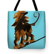 Naked One In Blue Tote Bag