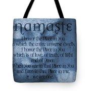 Namaste Blue Tote Bag