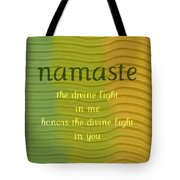 Namaste Tote Bag by Michelle Calkins