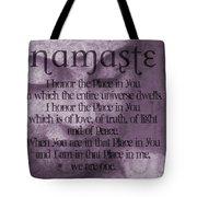 Namaste Pink Tote Bag