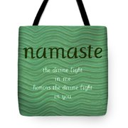 Namaste With Blue Waves Tote Bag
