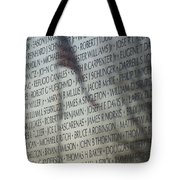 Names On A Wall Tote Bag