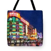 Nanjing Road In Shanghai Tote Bag