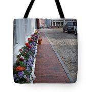 Nantucket Street Scene Tote Bag