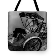 Nap Time For Vietnamese Rickshaw Driver Tote Bag