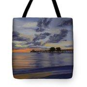 Naples Pier Naples Florida Tote Bag