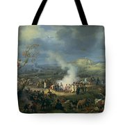 Napoleon 1769-1821 Visiting A Bivouac On The Eve Of The Battle Of Austerlitz, 1st December 1805 Tote Bag
