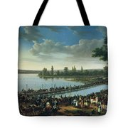 Napoleon Before The Battle Of Wagram, 6th July 1809 Tote Bag
