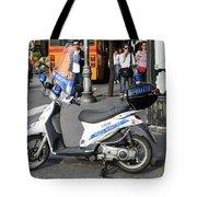 Napoli Police Scooter Tote Bag