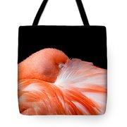 Napping Flamingo Tote Bag