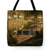 Narbonne France Canal De La Robine At Night Dsc01657  Tote Bag