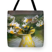 Narcissus In The Vase Tote Bag