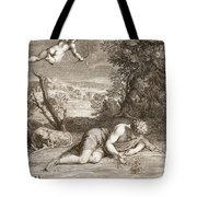 Narcissus Transformed Into A Flower Tote Bag