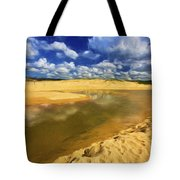 North Curl Curl With Clouds Tote Bag