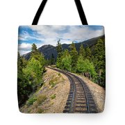 Narrow Gauge Tracks In Silver Country Tote Bag