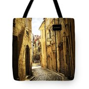 Narrow Street In Perigueux Tote Bag by Elena Elisseeva