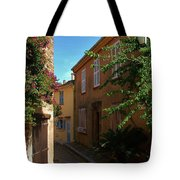 Narrow Street In The Village Tote Bag
