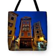 Narrow Streets And Buildings - Rovinj Croatia Tote Bag