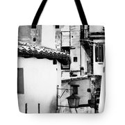 Narrow Streets Of Albarracin  Black And White Tote Bag