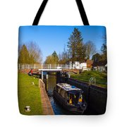 Narrowboat In Lock Tote Bag