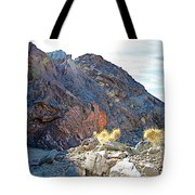 Narrowing Of Trail In Big Painted Canyon Trail In Mecca Hills-ca Tote Bag