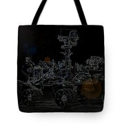 Nasa Vehicle System Vstb Rover On The Dark Side Tote Bag