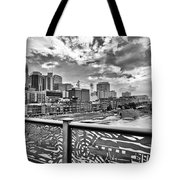 Nashville From The Shelby Bridge Tote Bag