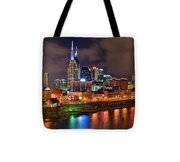 Nashville Is A Colorful Town Tote Bag