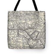 Nashville Railway Map Vintage Tote Bag